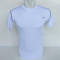 Nike Pro Combat Short Sleeve Shirt - Compression Tshirt Nike Putih