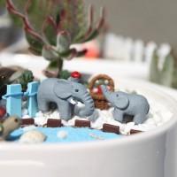 Miniatures - Terrariums - Fairy Garden - Animal_Elephant (3pcs)