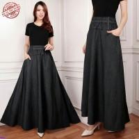 Black Jumbo long skirt/Rok payung jumbo/Rok panjang wanita jumbo/SB
