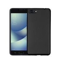 Asus Zenfone 4 Selfie Pro Case TPU Carbon Fiber Back Cover Casing