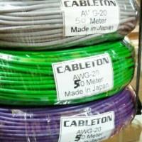 kabel awg 20 kecil kabel singgel serabut 1roll panjang 50M