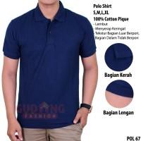 Kaos Polo Shirt Lengan Pendek Polos Premium POL 67
