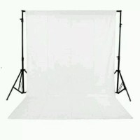 Backdrop Background Foto Putih Polos 200 x 400 Cm White Screen Tebal