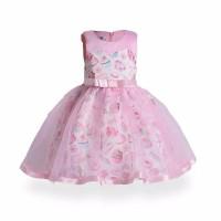 Baju Pesta Anak Import Pink Shortcake Dress Gaun Pesta
