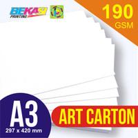 Kertas Art Carton 190 GSM A3 29,7 x 42 cm