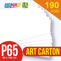 Kertas Art Carton 190 gram Plano 65 x 100 cm