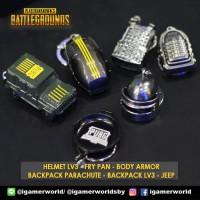 Keychain Gantungan Kunci PUBG Fry Pan / Helmet Lv3 / Body Armor