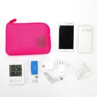 cable pouch tas kosmetik dompet gadget charger powerbank travel P23