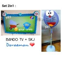 Spesial Set 2in1 Bando TV dan Kipas Hello Kitty, Doraemon & Kerokeropi
