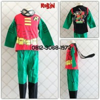 Baju Setelan Kostum Anak Karakter Superhero ROBIN 8-11 Tahun
