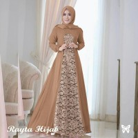 Rayta Mocca Busana Muslim Modern Baju Gamis Brukat