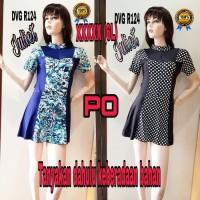 Baju Renang Big Size, XXXXXL (6L) wanita dewasa, model Rok DVGR 124PR