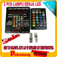 lampu led senja remote T10/Led senja remote t10 rgb/ lampu mobil
