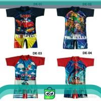 Baju renang anak cars/tayo/spiderman/capten america sd