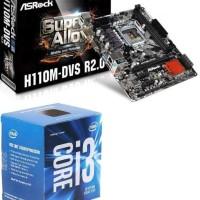 processor intel core i3 6100 + Motherboard Asrock H110M-DVS