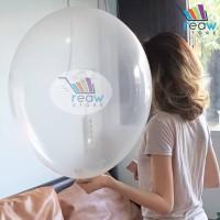 Balon Latex Transparan Jumbo (24 inch)