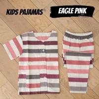 KIDS EAGLE PINK piyama anak garis katun catra murah stripe simple