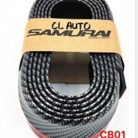 Samurai lips bumper warna hitam carbon Aksesoris bemper bamper mobil