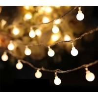 Lampu Natal gantung/lampu hias dekorasi LED warm white 5 Meter