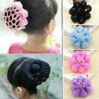 Ballerina Dance Hair Bun Hair Net Cover Jaring Cepol Anak Variasi