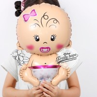 balon foil baby girl mini / balon foil baby girl / baby shower girl
