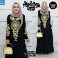 Baju Wanita Dress Arabian Maxi Bahan Jersey Super