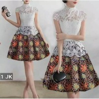 Dress batik/dres putih/baju pesta/baju kantor/kerja/ dres brokat murah
