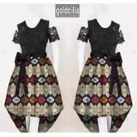 dress brokat/midi/minidres batik/baju pesta remaja/murah/baju kantor