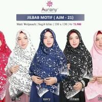 Aurany Jilbab Motif / AJM 21/ Jilbab Segi Empat