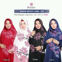 Aurany Jilbab Motif / AJM 22/ Jilbab Segi Empat