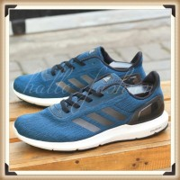 Sepatu Adidas Running Cloudfoam Cosmic II Navy Grey Black Original