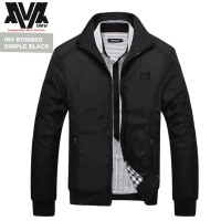Jaket Inv Bomber Simple Black - Hitam, S
