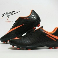 Sepatu Sepak Bola Nike Hypervenom Hitam List Oren Import