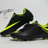 Sepatu Sepak Bola Nike Hypervenom Hitam List Hijau Import