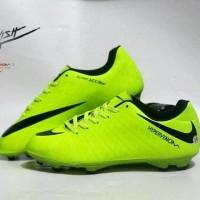Sepatu Sepak Bola Nike Hypervenom Hijau List Hitam Import