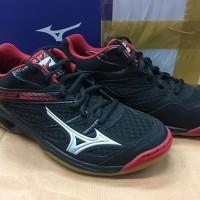 Hot Salee Sepatu Mizuno Badminton/ Volly Thunder Blade Black