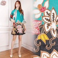 Atasan Tunik Ratu Blouse Dress Batik Lengan Panjang Wanita