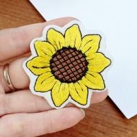 patch bunga matahari/patch baju/bordir tempel