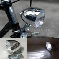 Onthel Brompton. Lampu Depan Sepeda LED Model Klasik / Ontel / Vintage
