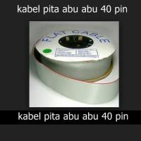 Flat Cable / Kabel Pita 40p Abu - Abu 40 pin