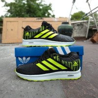 sepatu adidas running neo zoom sneakers black stabilo import