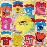 Grosir Kaos Anak Baby Victory Lusinan Size 1y, 2y, 3y Baju Cewek Cowok