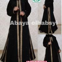 Abaya Gamis arab Hitam DUbai