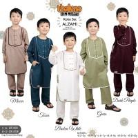 Baju Muslim Koko Anak Lengan Panjang Set Celana Bahan Katun Versus