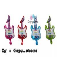 Balon Foil Gitar / Guitar Hero / Balon Bentuk Gitar Mini