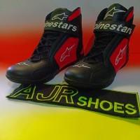 Sepatu drag alpinestar hitam merah variasi baru