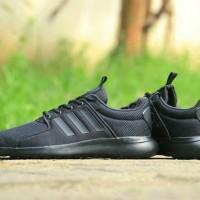 ORIGINAL Sepatu Adidas Cloudfoam Lite Racer Running Full Black