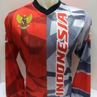 kaos jersey sepeda indonesia-baju motor cross Indonesia 1032 panjang