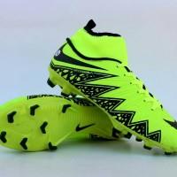 Sepatu Sepak Bola Nike Hypervenom High Hijau Muda Hitam Import