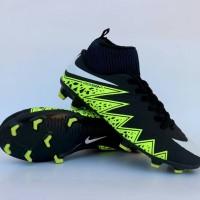 Sepatu Sepak Bola Nike Hypervenom High Hitam Hijau Import